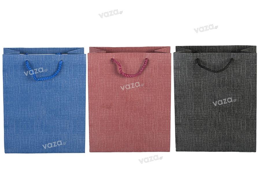 Σακούλα χάρτινη με χερούλι 160x80x200 mm σε διάφορα χρώματα
