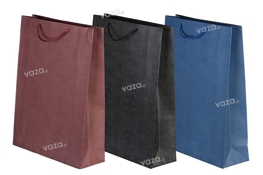 Σακούλα χάρτινη με χερούλι 315x105x420 mm σε διάφορα χρώματα