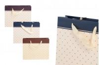 Τσάντα δώρου χάρτινη με σατέν χερούλι 250x80x200 mm σε διάφορα χρώματα