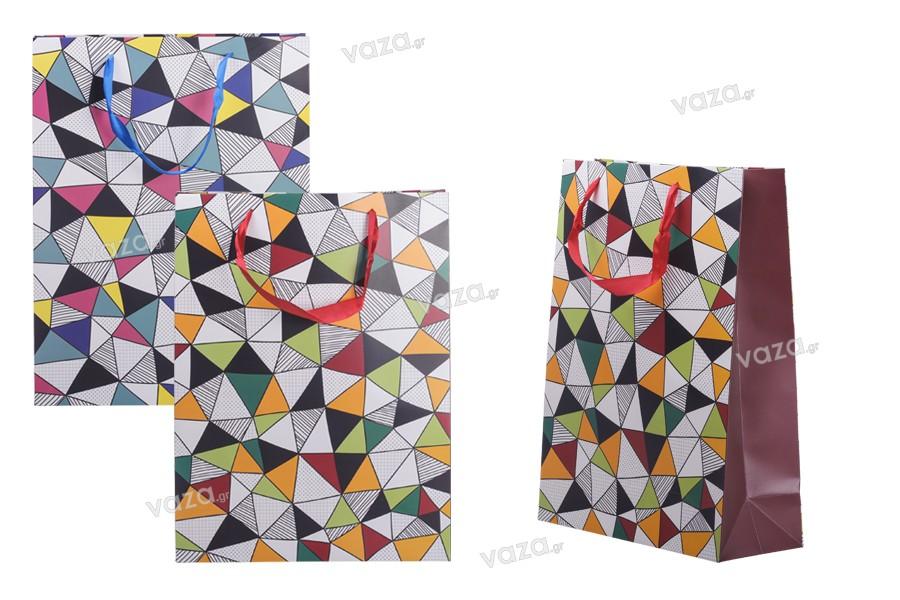 Σακούλα δώρου χάρτινη, πλαστικοποιημένη 300x120x400 - 12 τμχ