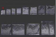 Σακουλάκια διαφανή με αυτοκόλλητο κλείσιμο 80x120 mm - 1000 τμχ