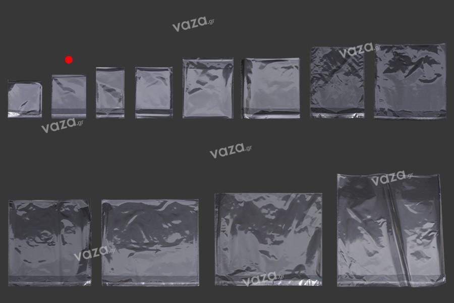 Σακουλάκια διαφανή με αυτοκόλλητο κλείσιμο 100x150 mm - 1000 τμχ