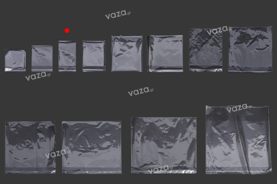 Σακουλάκια διαφανή με αυτοκόλλητο κλείσιμο 90x200 mm - 1000 τμχ
