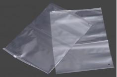 Σακουλάκια με κλείσιμο zip 24x35 cm πλαστικά, διαφανή - 50 τμχ