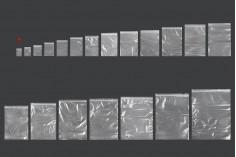 Σακουλάκια με κλείσιμο zip 40x60 mm διαφανή πλαστικά - 500 τμχ