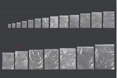 Σακουλάκια με κλείσιμο zip 220x320 mm διαφανή πλαστικά - 100 τμχ