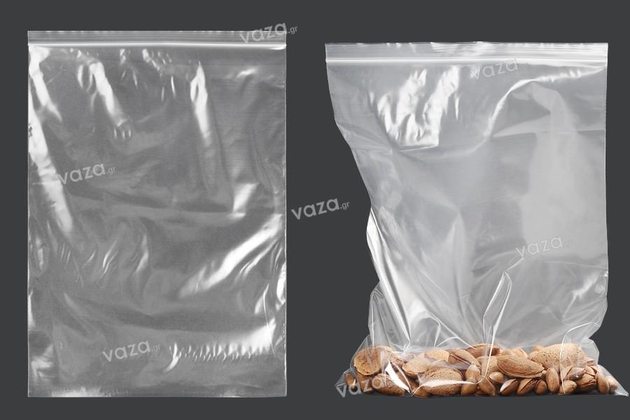 Σακουλάκια με κλείσιμο zip 240x340 mm διαφανή πλαστικά - 100 τμχ