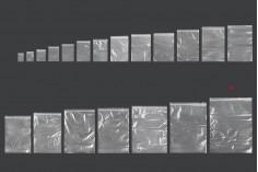 Σακουλάκια με κλείσιμο zip 350x450 mm διαφανή πλαστικά - 100 τμχ