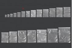 Σακουλάκια με κλείσιμο zip 90x130 mm διαφανή πλαστικά - 500 τμχ