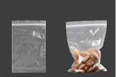 Σακουλάκια με κλείσιμο zip 100x150 mm διαφανή πλαστικά - 100 τμχ
