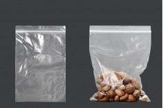 Σακουλάκια με κλείσιμο zip 120x170 mm διαφανή πλαστικά - 100 τμχ