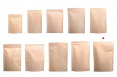 """Σακουλάκια κραφτ τύπου Doy Pack, με κλείσιμο """"zip"""", εσωτερική επένδυση αλουμινίου και δυνατότητα σφράγισης με θερμοκόλληση 200x50x300 mm - 50 τμχ"""