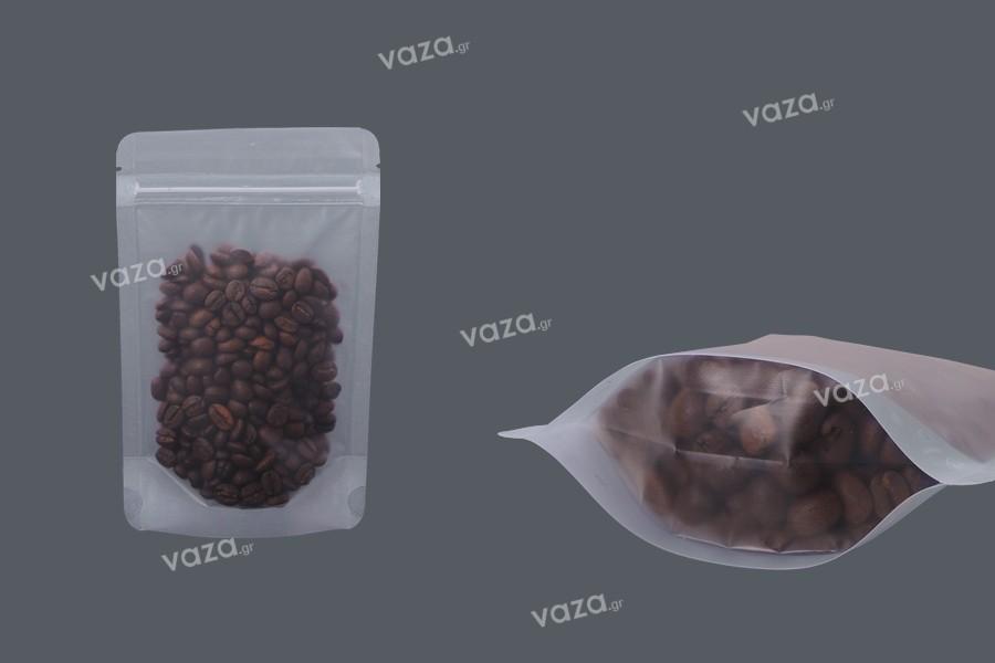 """Σακουλάκια τύπου Doy Pack διάφανα με κλείσιμο """"zip"""" και δυνατότητα σφράγισης με θερμοκόλληση 110x30x170 mm - 50 τμχ"""