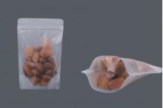 """Σακουλάκια τύπου Doy Pack διάφανα με κλείσιμο """"zip"""" και δυνατότητα σφράγισης με θερμοκόλληση 130x40x200 mm - 50 τμχ"""