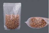 """Σακουλάκια τύπου Doy Pack διάφανα με κλείσιμο """"zip"""" και δυνατότητα σφράγισης με θερμοκόλληση 180x40x260 mm - 50 τμχ"""