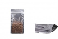 """Σακουλάκια αλουμινίου τύπου Doy Pack, διάφανα με κλείσιμο """"zip"""" και δυνατότητα σφράγισης με θερμοκόλληση 120x60x220 mm - 50 τμχ"""