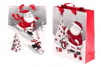Christmas gift bag with handle 195x80x235 mm - 12 pcs