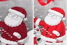Χριστουγεννιάτικη τσάντα δώρου με χερούλι 195x80x235 mm - 12 τμχ