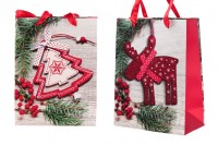 Christmas gift bag with handle 180x90x230 mm - 12 pcs