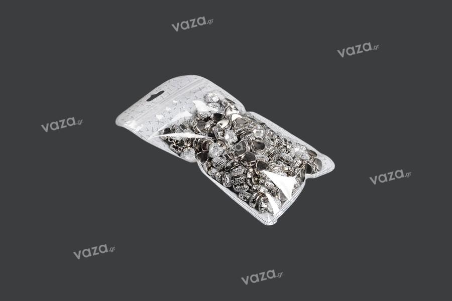 Σακουλάκια με κλείσιμο zip 83x130 mm, non woven πίσω όψη, διάφανο μπροστά και τρύπα eurohole - 50 τμχ