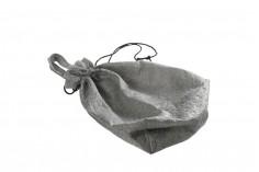 Τσάντα ώμου non woven 43x43 cm με μαύρο κορδόνι