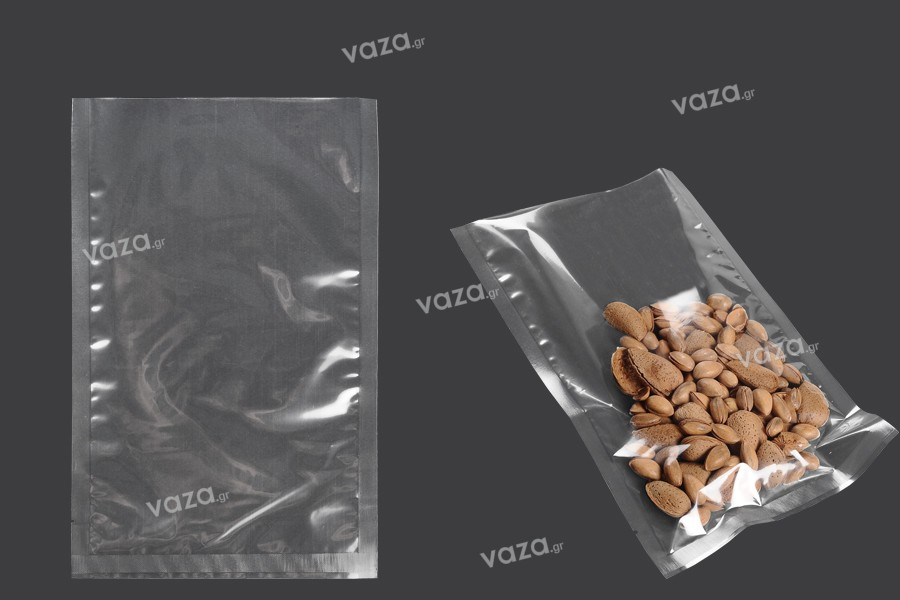 Σακούλες vacuum (κενού αέρος) για συντήρηση - συσκευασία τροφίμων και άλλων προϊόντων 180x280 mm - 100 τμχ