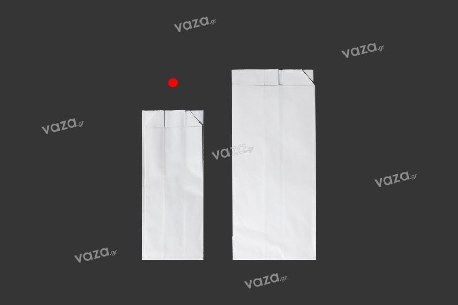 Σακούλα λευκή γυαλιστερή με διαστάσεις 65x25x165 χωρίς παράθυρο