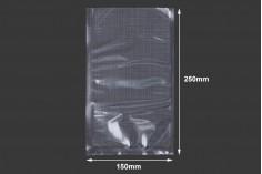 Σακούλες vacuum (κενού αέρος) για συντήρηση - συσκευασία τροφίμων και άλλων προϊόντων 150x250 mm - 100 τμχ