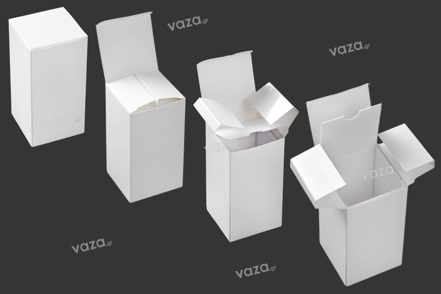 Κουτί χάρτινο σε λευκό χρώμα 53x53x108 mm - 20τμχ