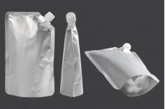 Συσκευασία (ασκός) αλουμινίου τύπου Doy Pack 500 ml με πλαϊνό λευκό καπάκι - 50 τμχ