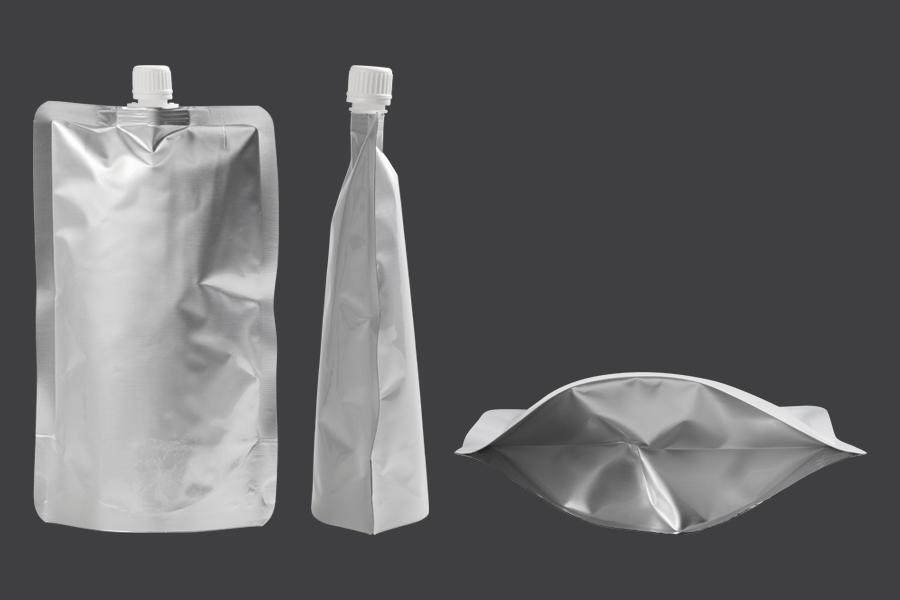Capsule en aluminium de 500 ml avec capsule blanche