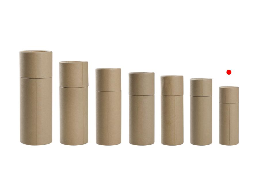 Boîte brune courbée (intérieur blanc) cylindrique 36x102 mm pour bouteilles - 12 pcs