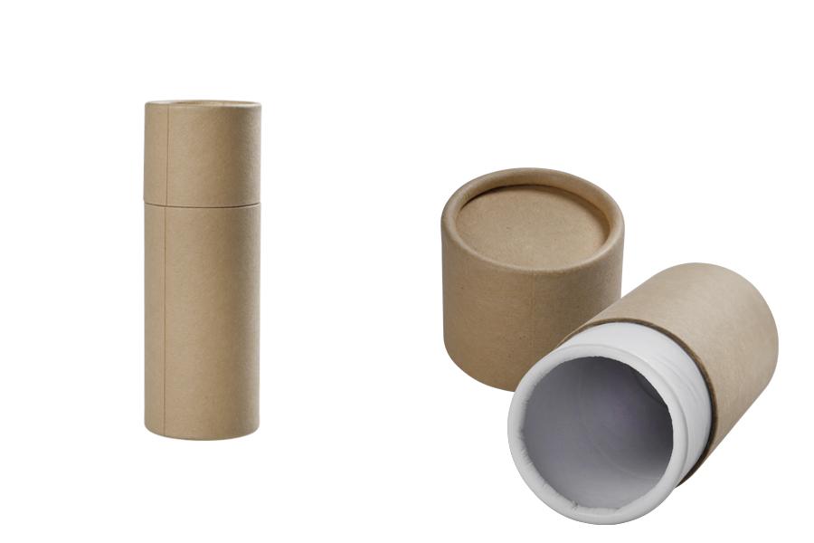 Boîte brune courbée (intérieur blanc) cylindrique 51x145 mm pour bouteilles - 12 pcs