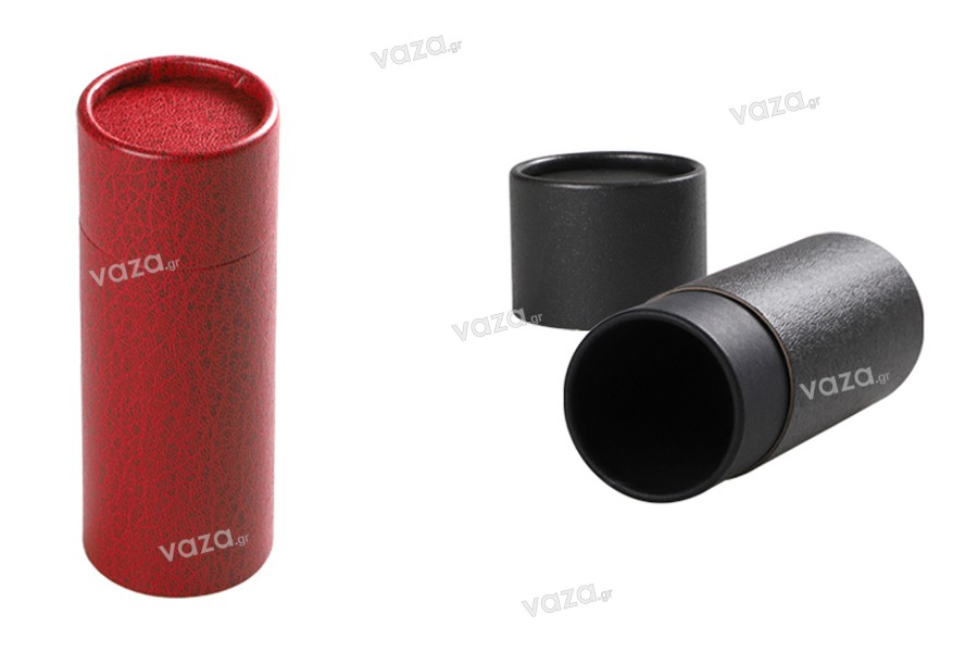 Κουτάκι (εσωτερικά μαύρο) κυλινδρικό 61x165 mm για μπουκαλάκια - 12 τμχ