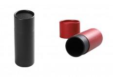 Κουτάκι κυλινδρικό (εσωτερικά μαύρο) 54x145 mm για μπουκαλάκια - 12 τμχ