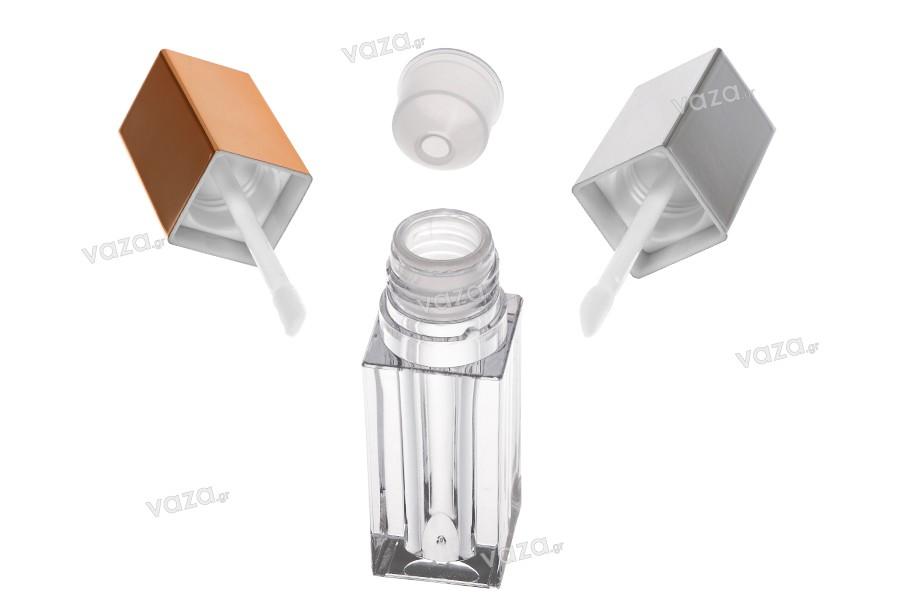 Θήκη για lip gloss 4 ml με καπάκι και αποστραγγιστήρα