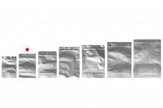 """Σακουλάκια αλουμινίου τύπου Doy Pack 120x40x170 mm με κλείσιμο """"zip"""" και δυνατότητα σφράγισης με θερμοκόλληση  - 100 τμχ"""