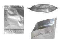 """Σακουλάκια αλουμινίου τύπου Doy Pack 180x40x260 mm με κλείσιμο """"zip"""" και δυνατότητα σφράγισης με θερμοκόλληση  - 100 τμχ"""