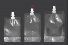Συσκευασία (ασκός) τύπου Doy Pack διάφανη 250 ml με λευκό καπάκι