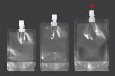 Συσκευασία (ασκός) τύπου Doy Pack διάφανη 380 ml με λευκό καπάκι