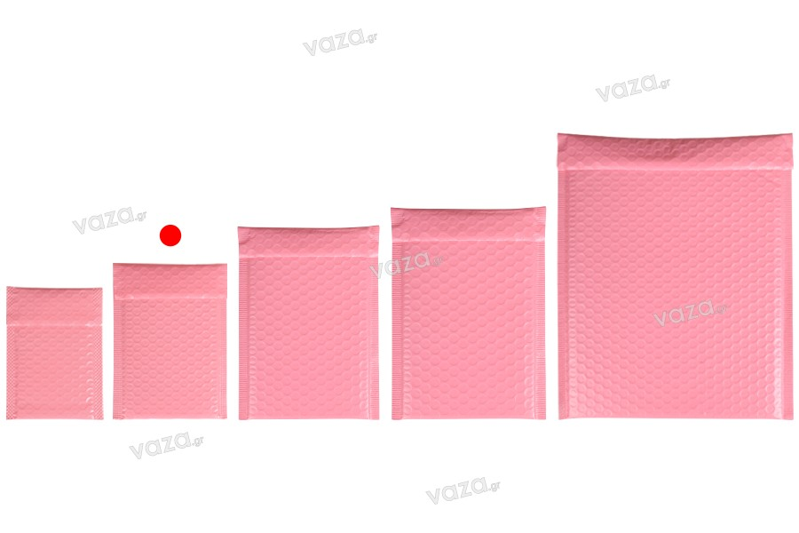 Φάκελοι με αεροπλάστ 11x18 cm σε ροζ ματ χρώμα - 10 τμχ