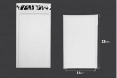 Φάκελοι με αεροπλάστ 14x25 cm σε λευκό ματ χρώμα - 10 τμχ