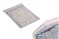 Φάκελοι με αεροπλάστ 13x20 cm σε ασημί ιριδίζον χρώμα - 10 τμχ