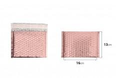 Φάκελοι με αεροπλάστ 16x13 cm σε ροζ γυαλιστερό χρώμα - 10 τμχ