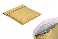Φάκελοι με αεροπλάστ 16x18 cm σε χρυσό γυαλιστερό χρώμα - 10 τμχ