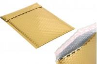 Φάκελοι με αεροπλάστ 16x22,5 cm σε χρυσό γυαλιστερό χρώμα - 10 τμχ