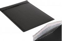 Φάκελοι με αεροπλάστ 26x38 cm σε μαύρο ματ χρώμα - 10 τμχ