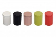 Κουτί αποθήκευσης μεταλλικό 47x65 mm κυλινδρικό σε διάφορα χρώματα