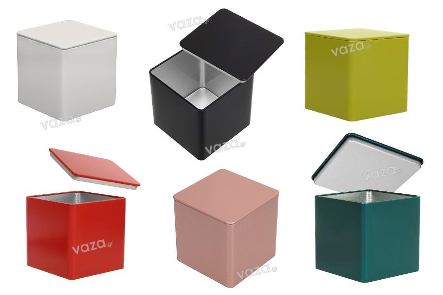 Κουτί αποθήκευσης μεταλλικό 85x85x85 τετράγωνο σε διάφορα χρώματα