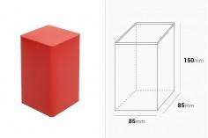 Κουτί αποθήκευσης μεταλλικό 85x85x150 τετράγωνο σε διάφορα χρώματα